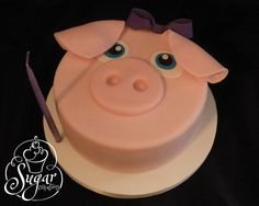 little piggy smash cake for a farm theme birthday -- Sugar Creations, Uniontown, KS Piggy Cake, Farm Cake, Toy Story Cakes, Animal Cakes, Biscuit Cake, Cute Cakes, Let Them Eat Cake, Cake Smash, Birthday Ideas