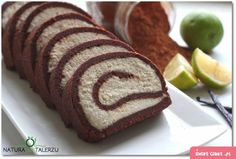 Rolada kakaowo – waniliowa bez pieczenia