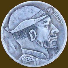 MATTHEW PETITDEMANGE HOBO NICKEL - 1936 BUFFALO PROFILE