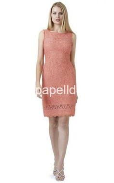 Adrianna Papell 2014 Guava Illusion Shift Dress - adriannapapelldress.com