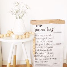 Le sac en papier The Paper Bag, Rustic, Interior Design, Bedroom, Decoration, Kitchen, Home Decor, Bag, Paper