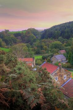 Looking Down on Beck Hole, Goathland, North Yorkshire