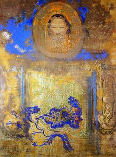 Evocation (also known as Head of Christ or Inspiration from a Mosaic in Ravenna), Private collection Odilon Redon
