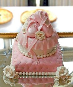 Cute baby girl shower cake