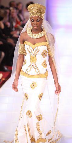 couture wedding gown Queen Nzingha Amazon of Matamba, West Africa ...