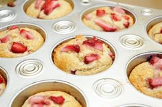 Healthy Strawberry Muffins. Ive made these and they are awesome. substitute any fruit in season