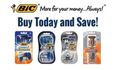BIC Men's Razor Savings  Save on FLEX 3, FLEX 5, Comfort 3 Advance, Hybrid 3 Comfort!