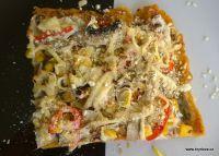 Polentový slaný koláč