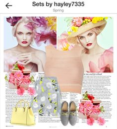 Spring #floral #flowers #spring #fashion #polyvore