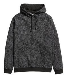 Sudadera con capucha | Negro jaspeado | Hombre | H&M CL