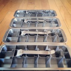 Stainless Steel ice cube trays! Getting ready for summer!