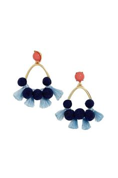 Pair these with blue jeans and you're good to go. Baublebar Melina Pompom Tassel Drop Earrings, $34; nordstrom.com.