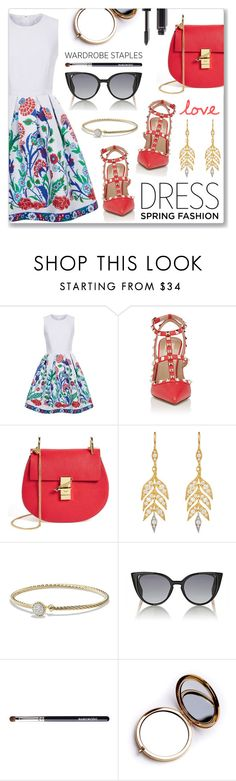 """""""Sweet Spring Dresses"""" by dressedbyrose ❤ liked on Polyvore featuring Andrew Gn, Valentino, Chloé, Cathy Waterman, David Yurman, Fendi, Odeme, Chanel, polyvoreeditorial and springdress"""