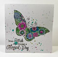 Evening all, here's my card for our colour challenge over at Chocolate Baroque Challenge. As always we've got a beautiful colour palette t. Butterfly Cards, Hello Everyone, Diy Cards, Baroque, The Twenties, Gift Wrapping, Birthday Cards, Projects To Try, Card Making