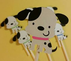 Check out this item in my Etsy shop https://www.etsy.com/listing/219387305/12-adorable-dalmatian-cupcake-toppers