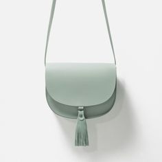 LEATHER MESSENGER BAG WITH TASSELS - View all - Bags - WOMAN | ZARA Ukraine