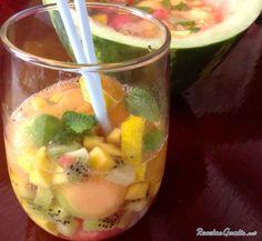 Ponche de frutas para niños #RecetasdeCocina #RecetasFáciles #RecetasparaNiños #ComidaDivertidaparaNiños #CocinaCreativa