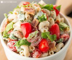 BLT Pasta Salad....oh boy, this sounds so good!!