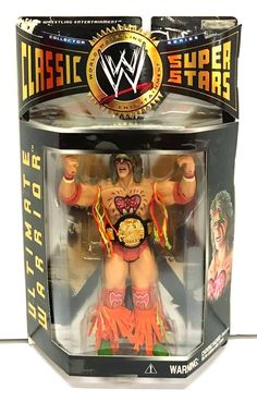WWE Classic Superstars Series 1 Ultimate Warrior tall action figure Includes 1 Accessories Recommended age range from 8 years and above Minor Shelf Wear Chocking Hazard Dc Rebirth, Wwe Action Figures, Wrestling Superstars, Hulk Hogan, 90s Cartoons, Undertaker, Kids Toys, Legends, Elm Street