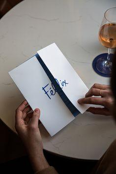 Felix Branding, Illustration & Art Direction by Outline - Grits & Grids® Collateral Design, Brand Identity Design, Menu Restaurant, Restaurant Design, Web Design, Logo Design, Graphic Design, Character Outline, Cafe Menu Design