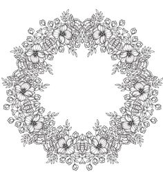 Flower Crown Mandala From JustColorin.com