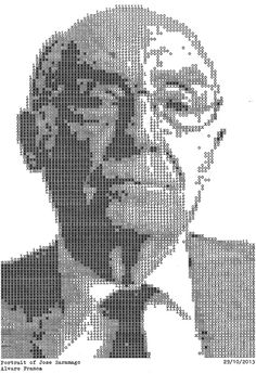 Detailed Portraits Made with Only Text are Produced Using a Typewriter