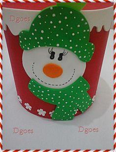 porta panetone em eva boneco de neve