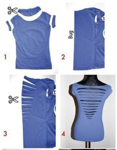 T Shirt Cutting Designs Ideas one shoulder shirt without sewing Diy T Shirt Cutting Back Day 46 Httpinterestingforme