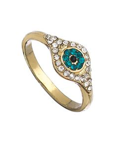 Alloy Turkey Blue Eyes Ring