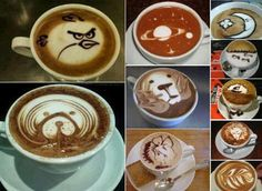 Have to admire the art of this gourmet coffee!