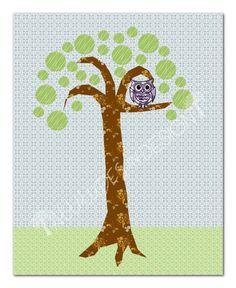 Printable Nursery Art  Wise Owl  8x10 by attitudesindesign on Etsy, $7.00