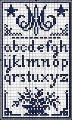 Klein Alfabet Bloemenmandje