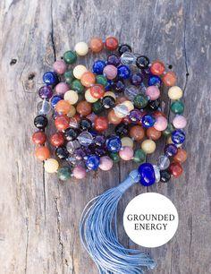 Grounded Energy Mala, chakras http://www.sivanaspirit.com/collections/women-jewelry-108malas/products/chakra-mala