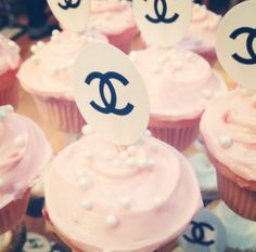 Chanel cupcakes at vintage Chanel party at What Goes Around Comes Around in L.A