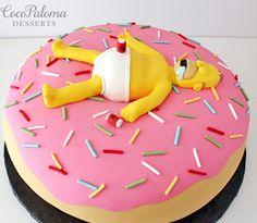 ©Coco Paloma Desserts Homer donut groom's cake.