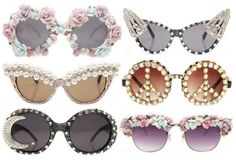 A's Fashion Files: DIY: Summer Sunglasses- Floral & Pearl Styles