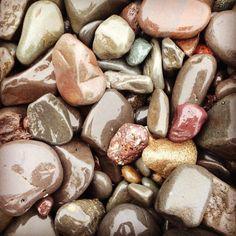 Beautiful wet pebbles by the lake.  #usa #us #minnesota #northshore #america #pebbles #stones #lake #lakeview #lakeshore #closeup #vacation #inspiration