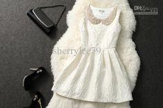 Wholesale Runway Dress - Buy New Autumn Winter Runway Dress White Fashionable Laby Wear Sleeveless Dress Top Bland Stylish Dress Promotion, $70.0 | DHgate