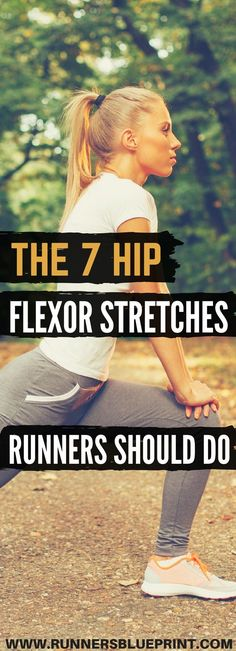 The 7 Hip Flexor Stretches Runners Should Do Fortunately there is an abundance of hip stretches you can do. As a result give your hips a little extra love with this sequence of seven stretches to boost your flexibility prevent injury and increase perfo Hip Flexor Pain, Hip Flexor Exercises, Tight Hip Flexors, Hip Pain, Back Pain, Workout Exercises, Fat Workout, Workout Videos, Workouts