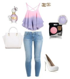 Cotton Candy #polyvore #BelovedDesigns #lovefashion by bethany-ruotolo on Polyvore featuring polyvore, fashion, style, Frame Denim, Chanel and Marc Jacobs
