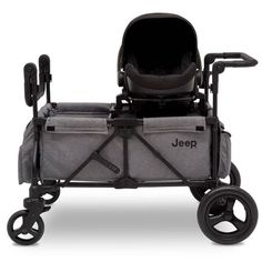 Jeep Wrangler Stroller Wagon with Included Car Seat Adapter by Delta Children – … Jeep Wrangler Stroller Wagon with Included Car Seat Adapter by Delta Children – Gray Stroller Storage, Stroller Cover, Jeep Stroller, Two Seat Stroller, Stroller Workout, Toddler Stroller, Jogging Stroller, Twin Strollers, Double Strollers