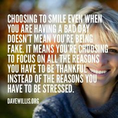 AMEN! ♡ Smiling helps lessen the stress as well!    SMILING  through the years and the tears.   : )