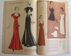 1930's Vintage Sewing Pattern Catalog Booklet McCall by Mrsdepew