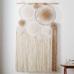 Mirror Wall Art, Home Wall Art, Framed Wall Art, Boho Wall Hanging, Hanging Artwork, Macrame Design, Mobiles, Macrame Patterns, Bedding Shop