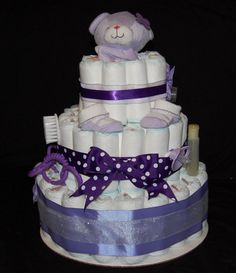 ... part of this diaper cake is the hair bows here is the front view