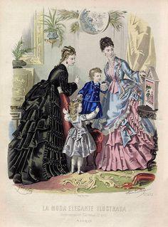 1874. La Moda Elegante Ilustrada.