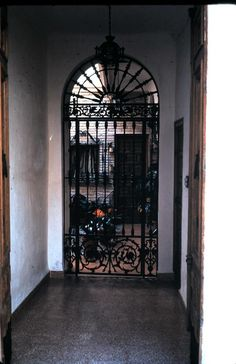 wrought iron gate, Spain
