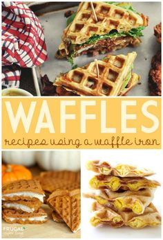 Waffle Iron Recipes on Frugal Coupon Living - Fried Chicken and Waffle Sandwiches, Pumpkin Waffles with Cream Cheese and Waffled Beakfast Quesadillas