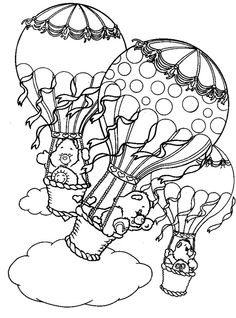 Care Bears - 999 Coloring Pages Bear Coloring Pages, Pattern Coloring Pages, Free Coloring, Adult Coloring Pages, Coloring Pages For Kids, Coloring Books, Coloring Sheets, How To Draw Balloons, Care Bear Tattoos