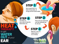 heat therapy to get water out of ear
